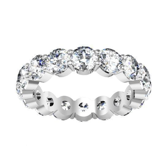 4.00 cttw Round Shared Prong Buttercup Diamond Eternity Band