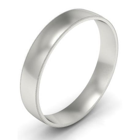4mm Platinum Wedding Band Milgrain Platinum Wedding Rings deBebians