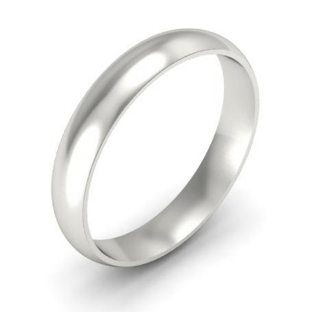Domed Wedding Band in 14k 4mm Plain Wedding Rings deBebians