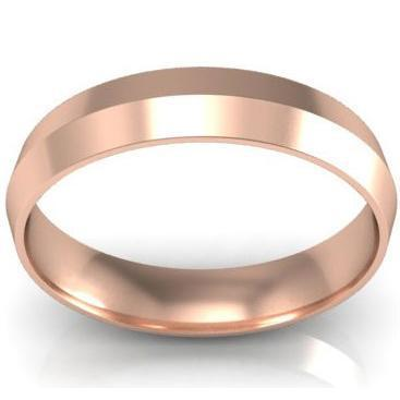 4mm Knife Edge Wedding Band in 14k Plain Wedding Rings deBebians
