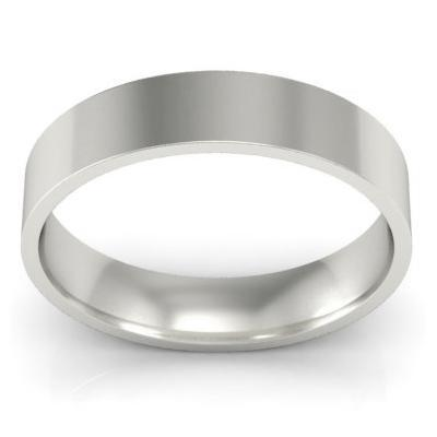 4mm Flat Wedding Band in 18k