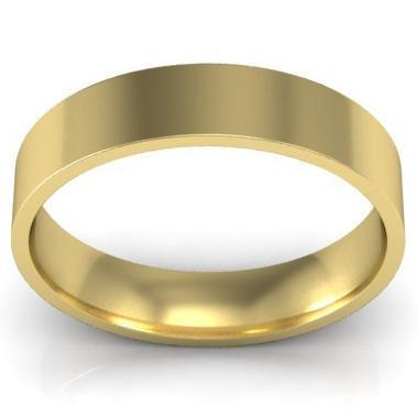 4mm Flat Wedding Band in 18k Plain Wedding Rings deBebians