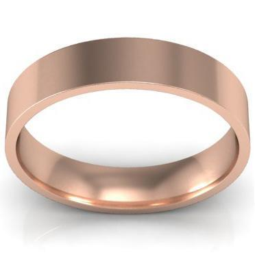 4mm Flat Wedding Ring in 14k Plain Wedding Rings deBebians
