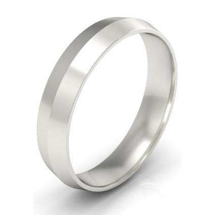 4mm Platinum Wedding Band Knife Edge Platinum Wedding Rings deBebians