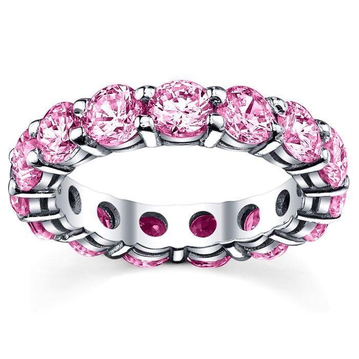 5.00 cttw Pink Sapphire Eternity Ring Gemstone Eternity Rings deBebians