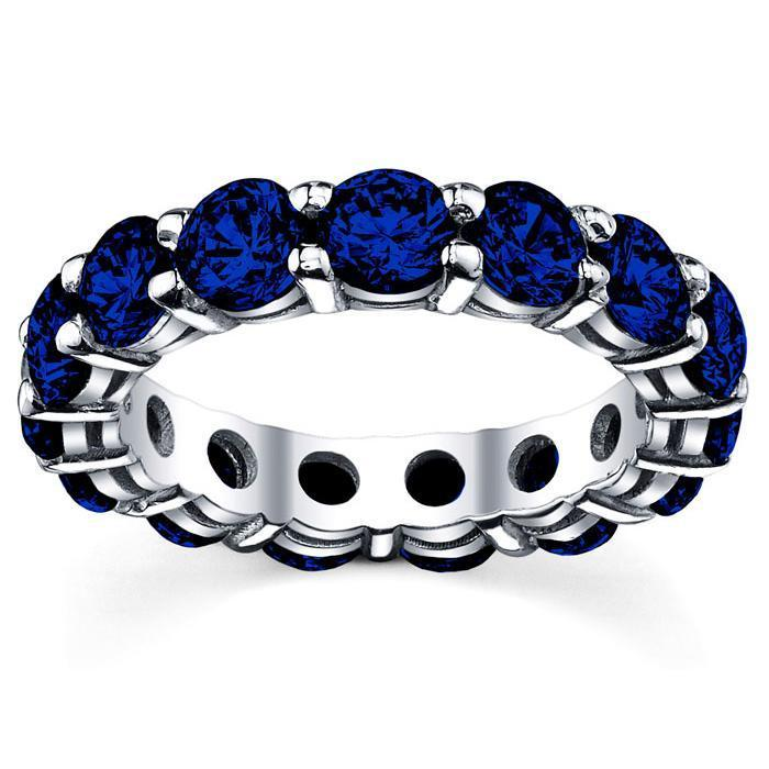 5.00 cttw Sapphire Eternity Ring Gemstone Eternity Rings deBebians