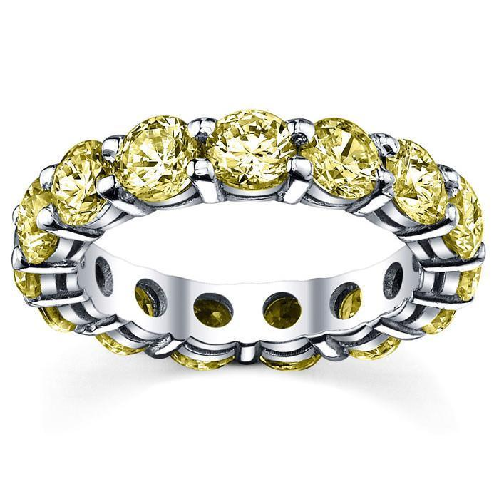 5.00 cttw Yellow Sapphire Eternity Ring Gemstone Eternity Rings deBebians