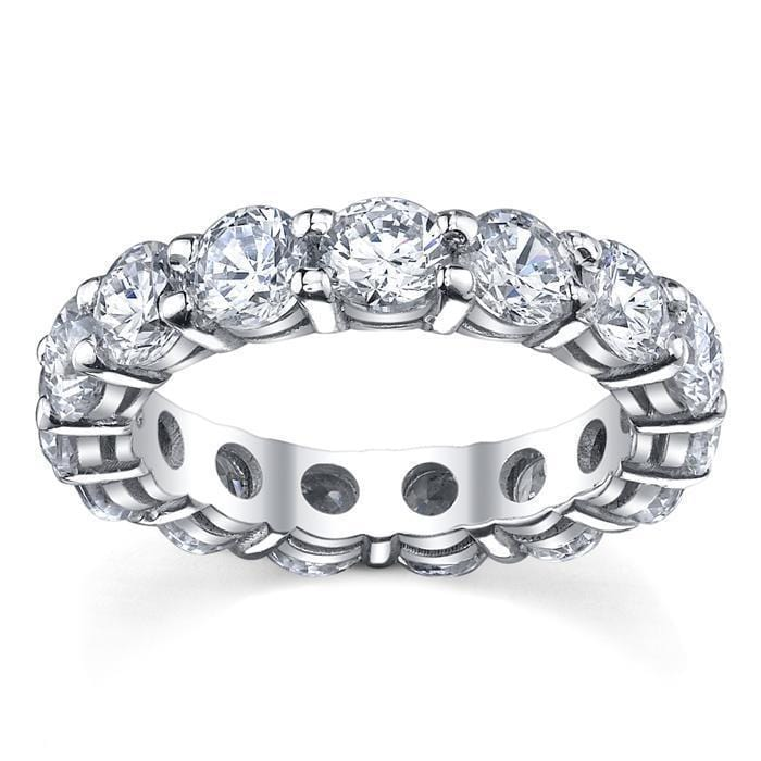 Round Shared Prong Diamond Eternity Band - 5.00 carat - I1 Clarity Diamond Eternity Rings deBebians