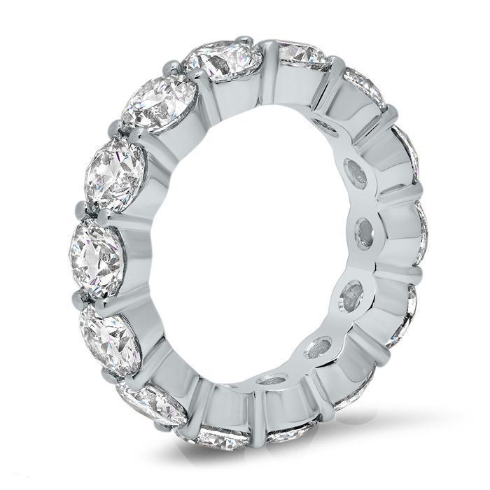 5.00 cttw Round Shared Prong Buttercup Diamond Eternity Band Diamond Eternity Rings deBebians