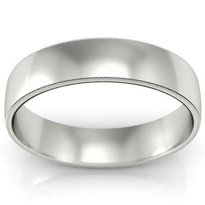 5mm Platinum Wedding Band Milgrain Platinum Wedding Rings deBebians