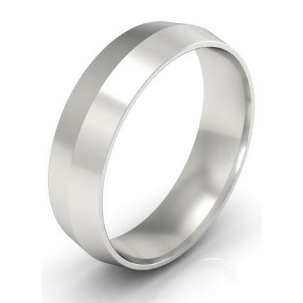 5mm Knife Edge Wedding Ring in 14kt Gold Plain Wedding Rings deBebians
