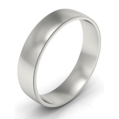 5mm Milgrain Wedding Band in 14k Plain Wedding Rings deBebians