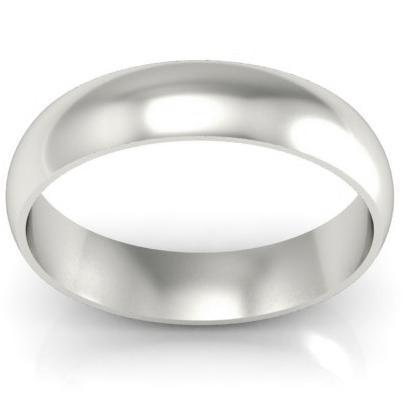 Platinum Wedding Ring Domed 5mm Platinum Wedding Rings deBebians