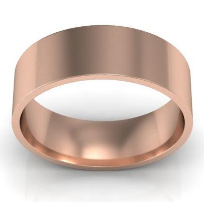 6mm Flat Wedding Ring in 18k Plain Wedding Rings deBebians
