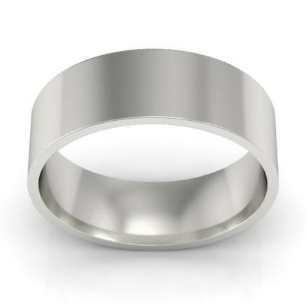6mm Flat Wedding Ring in 14k Plain Wedding Rings deBebians