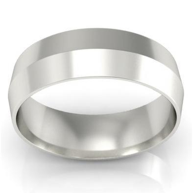6mm Platinum Wedding Ring Knife Edge Platinum Wedding Rings deBebians