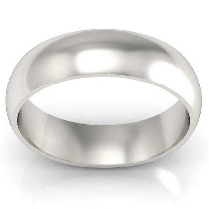Platinum Wedding Ring Domed 6mm Platinum Wedding Rings deBebians