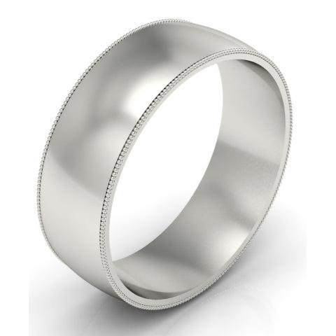 7mm Platinum Wedding Band Milgrain Platinum Wedding Rings deBebians