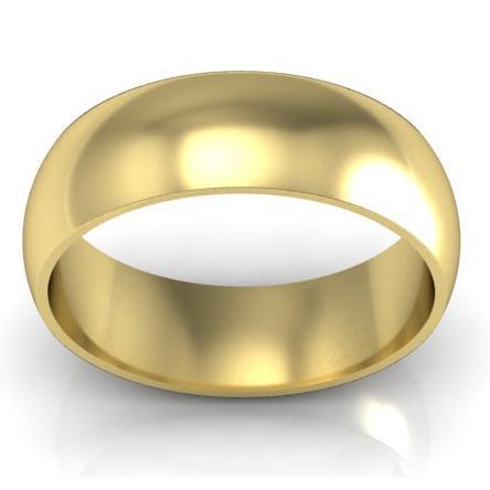 7mm Traditional Wedding Ring in 14kt Gold Plain Wedding Rings deBebians