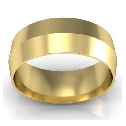 7mm Knife Edge Wedding Ring in 18-Karat Plain Wedding Rings deBebians