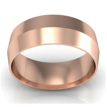 7mm Knife Edge Wedding Ring in 14kt Gold Plain Wedding Rings deBebians