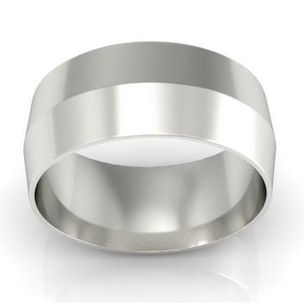 8mm Platinum Wedding Ring Knife Edge Platinum Wedding Rings deBebians
