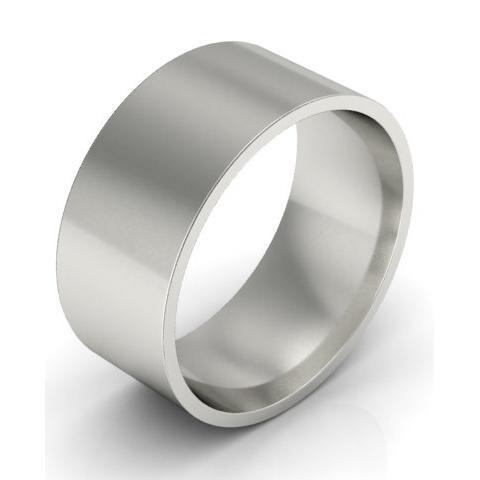 8mm Flat Wedding Ring in 14k Plain Wedding Rings deBebians
