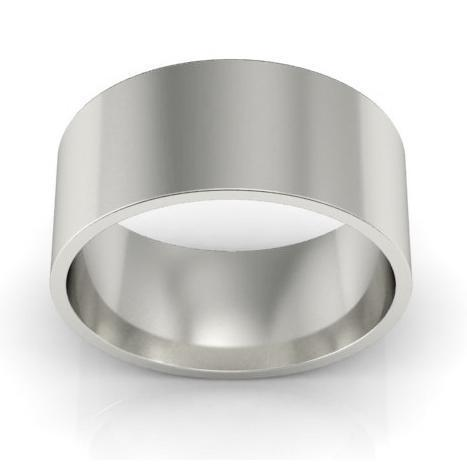 8mm Platinum Wedding Ring Flat Platinum Wedding Rings deBebians