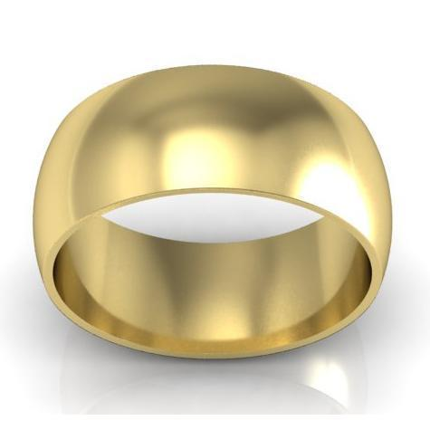 Classic Wedding Band in 18kt Gold 9mm Plain Wedding Rings deBebians
