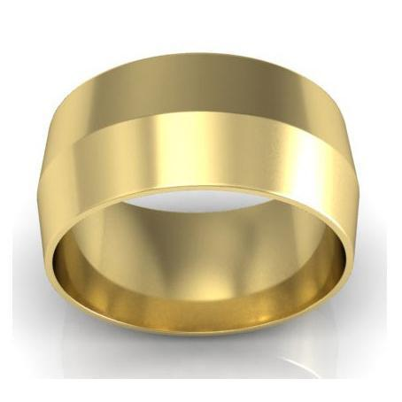 9mm Knife Edge Wedding Ring in 18-Karat Plain Wedding Rings deBebians