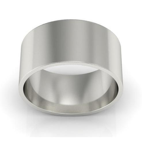 9mm Flat Wedding Ring in 18k Plain Wedding Rings deBebians