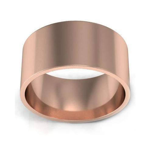 9mm Flat Wedding Ring in 14k Plain Wedding Rings deBebians