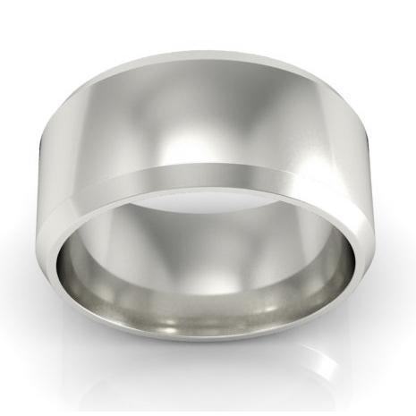 Platinum Wedding Ring Beveled 9mm Platinum Wedding Rings deBebians