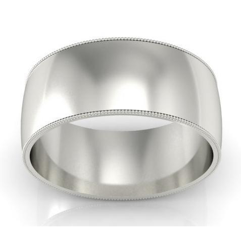 9mm Platinum Wedding Band Milgrain Platinum Wedding Rings deBebians