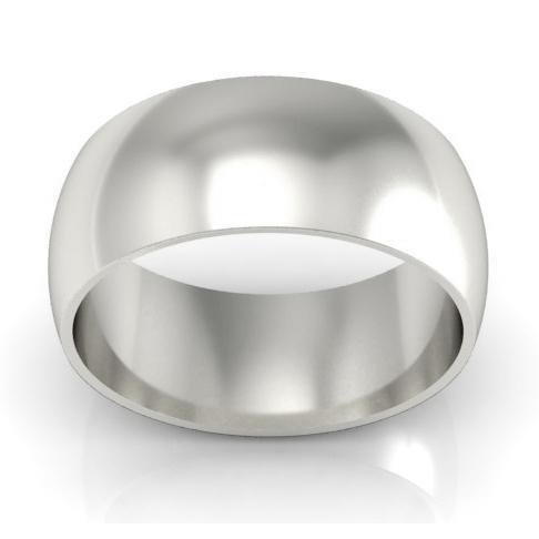 Platinum Wedding Ring Domed 9mm Platinum Wedding Rings deBebians
