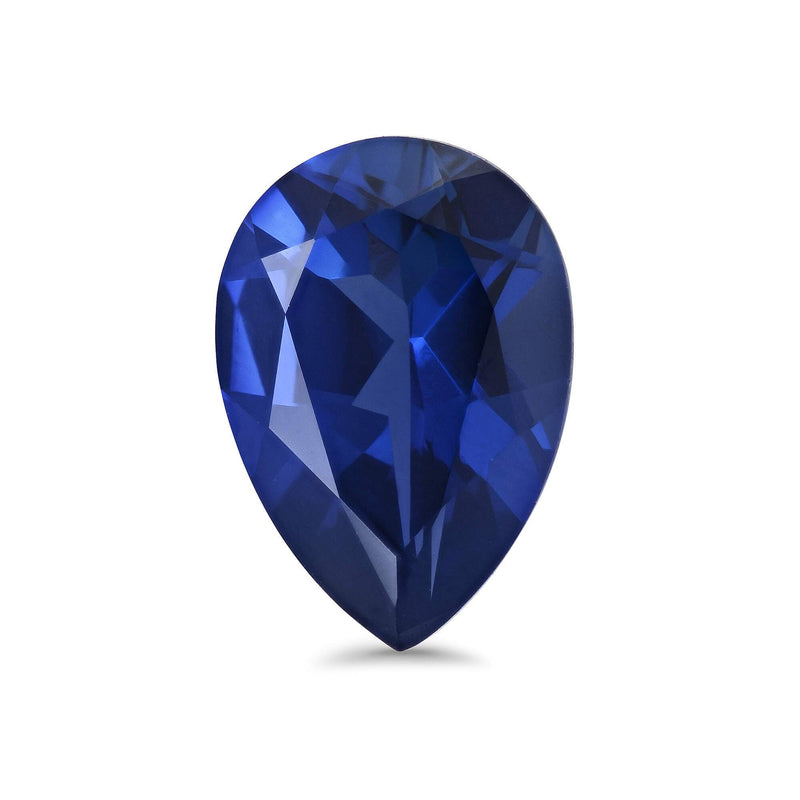 Pear Shape Lab Created Sapphire Loose Gemstones deBebians