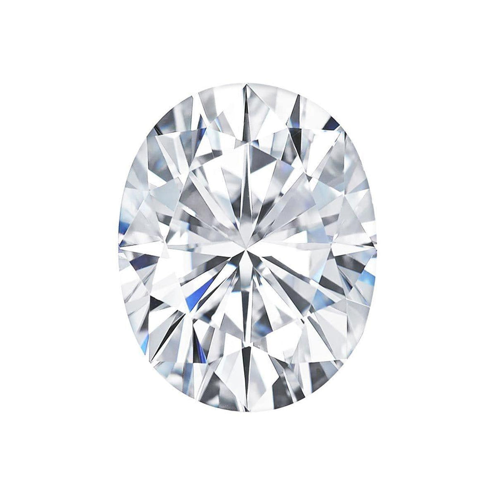 Charles and Colvard Oval Forever One Moissanite