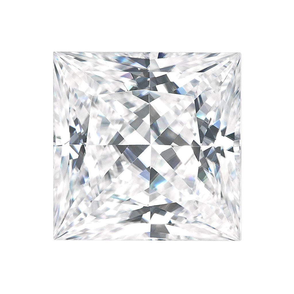 Charles and Colvard Princess Cut Forever One Moissanite