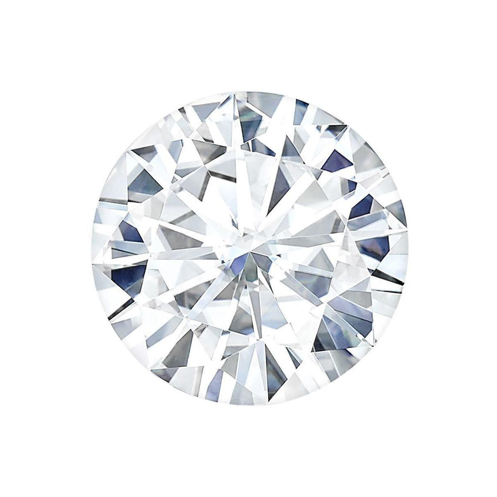 Charles and Colvard Round Brilliant Forever One Moissanite