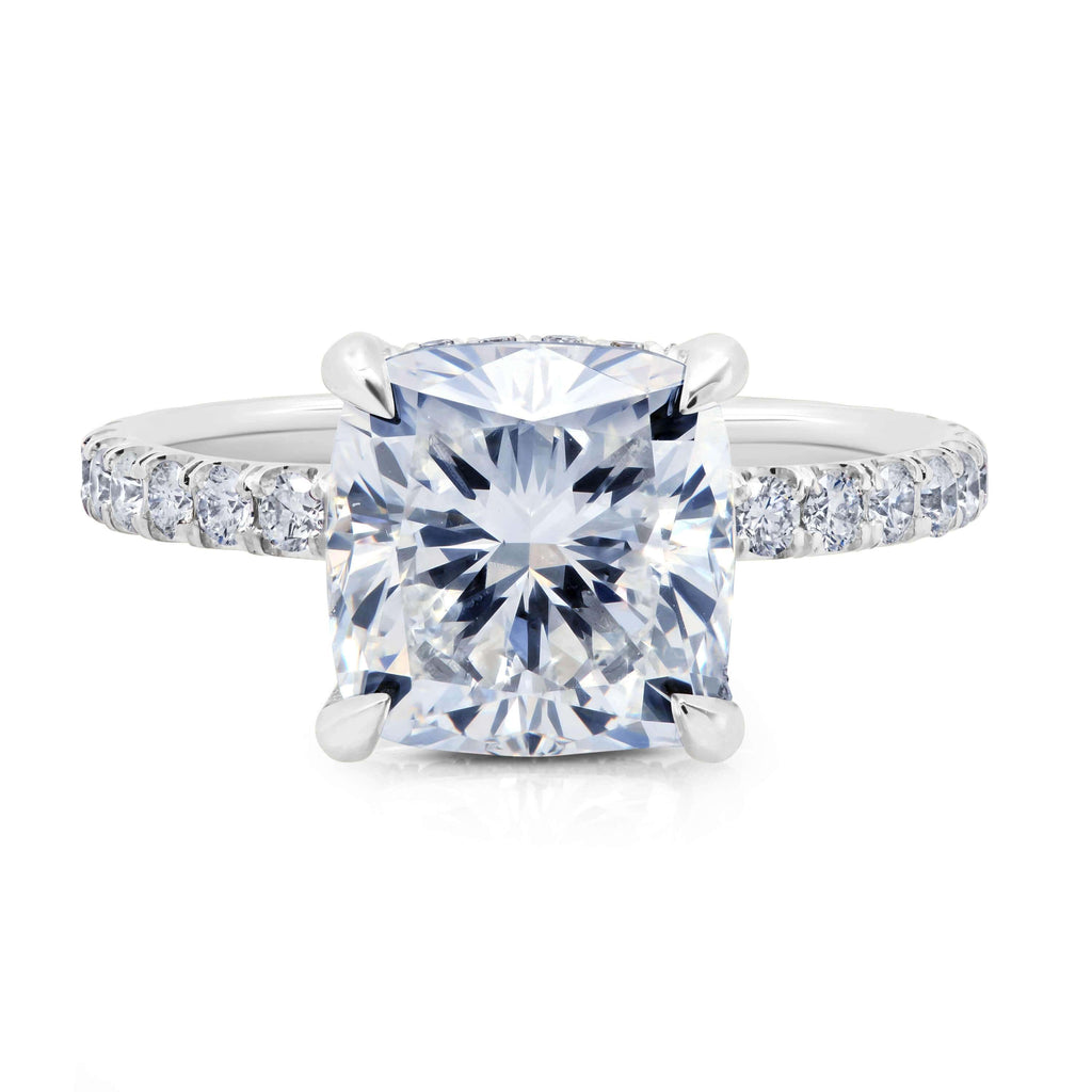 Under Halo Diamond Accented Engagement Ring Diamond Accented Engagement Rings deBebians