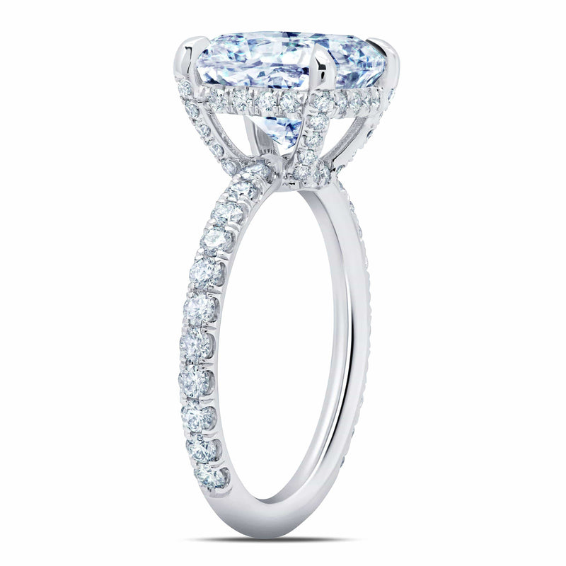 Radiant Diamond Eternity Engagement Ring