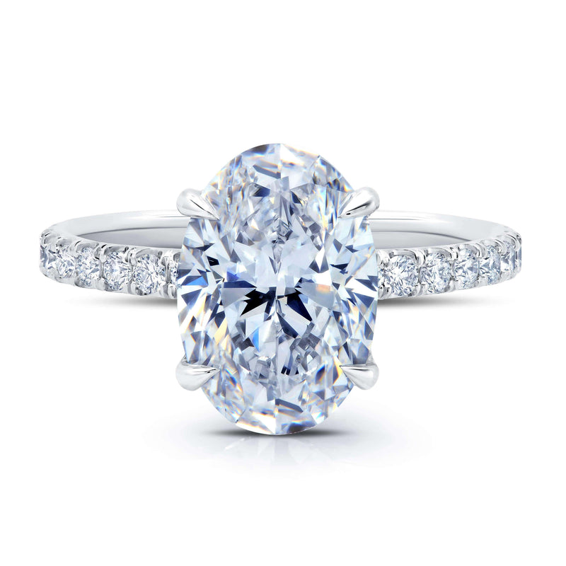 Diamond Under Halo Engagement Ring Diamond Accented Engagement Rings deBebians