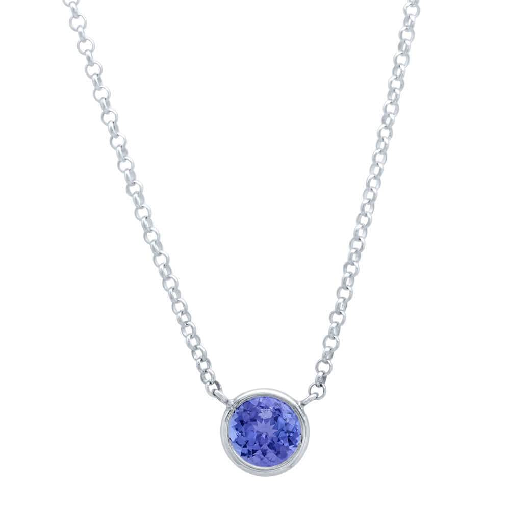 Tanzanite Necklace in Sterling Silver Ready-To-Ship deBebians