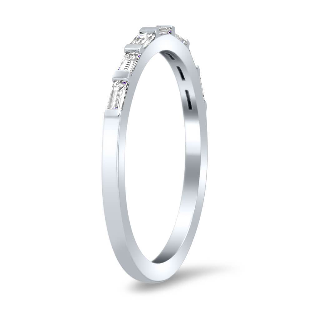 Diamond Baguette Wedding Ring Ready-To-Ship deBebians
