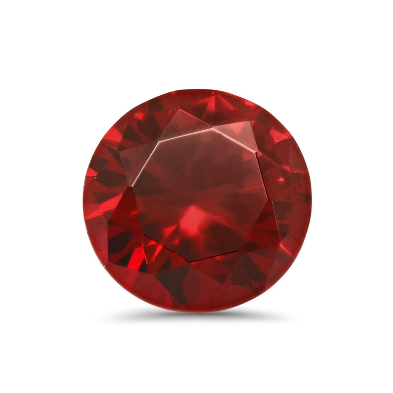 Round Lab Created Ruby Loose Gemstones deBebians