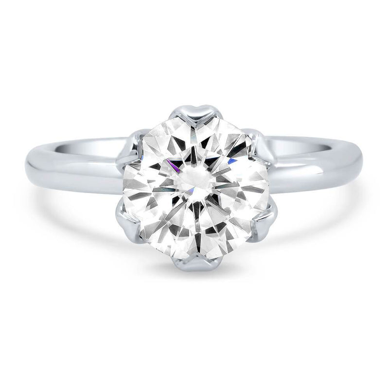 Diamond Under Halo Engagement Ring