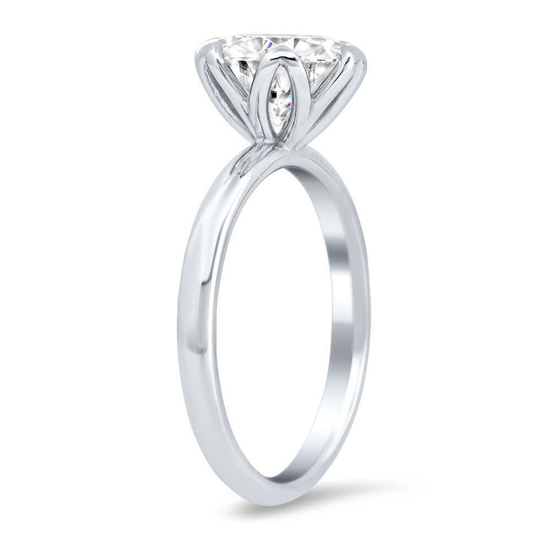 Tulip Solitaire Engagement Ring Setting Solitaire Engagement Rings deBebians