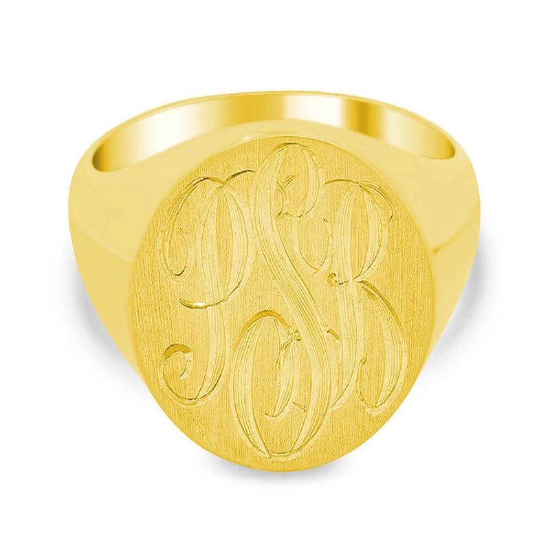 Men's Square Signet Ring - Small