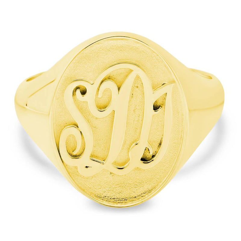 Square Face Signet Ring - 15mm x 13mm