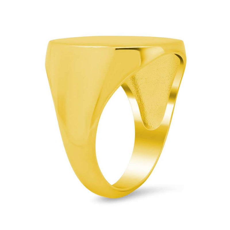 Men's Square Signet Ring - Large Signet Rings deBebians